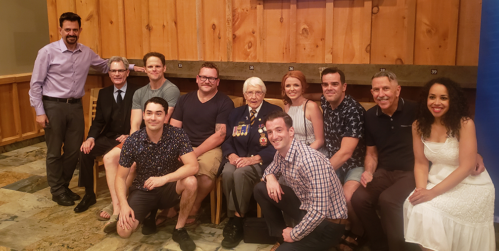 Huron County Playhouse cast and crew with Cpl Armstrong