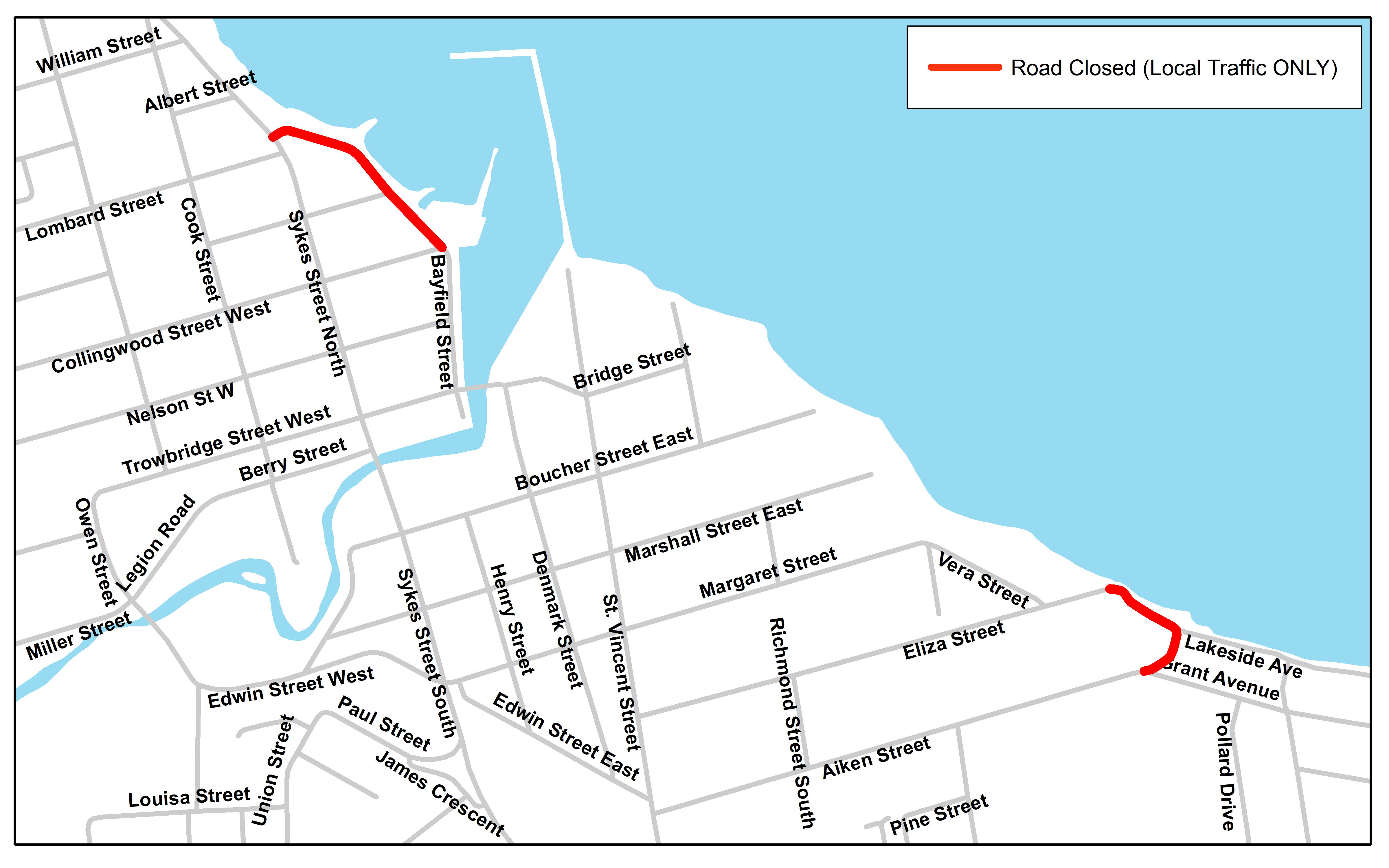 Map - Bayfield and Lakeside