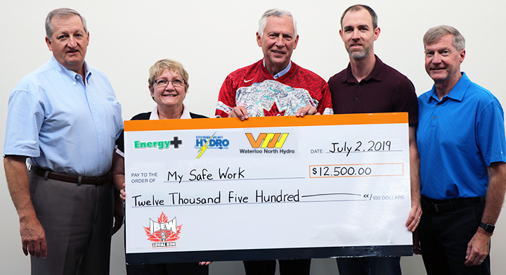 IBEW cheque presentation to MySafeWork