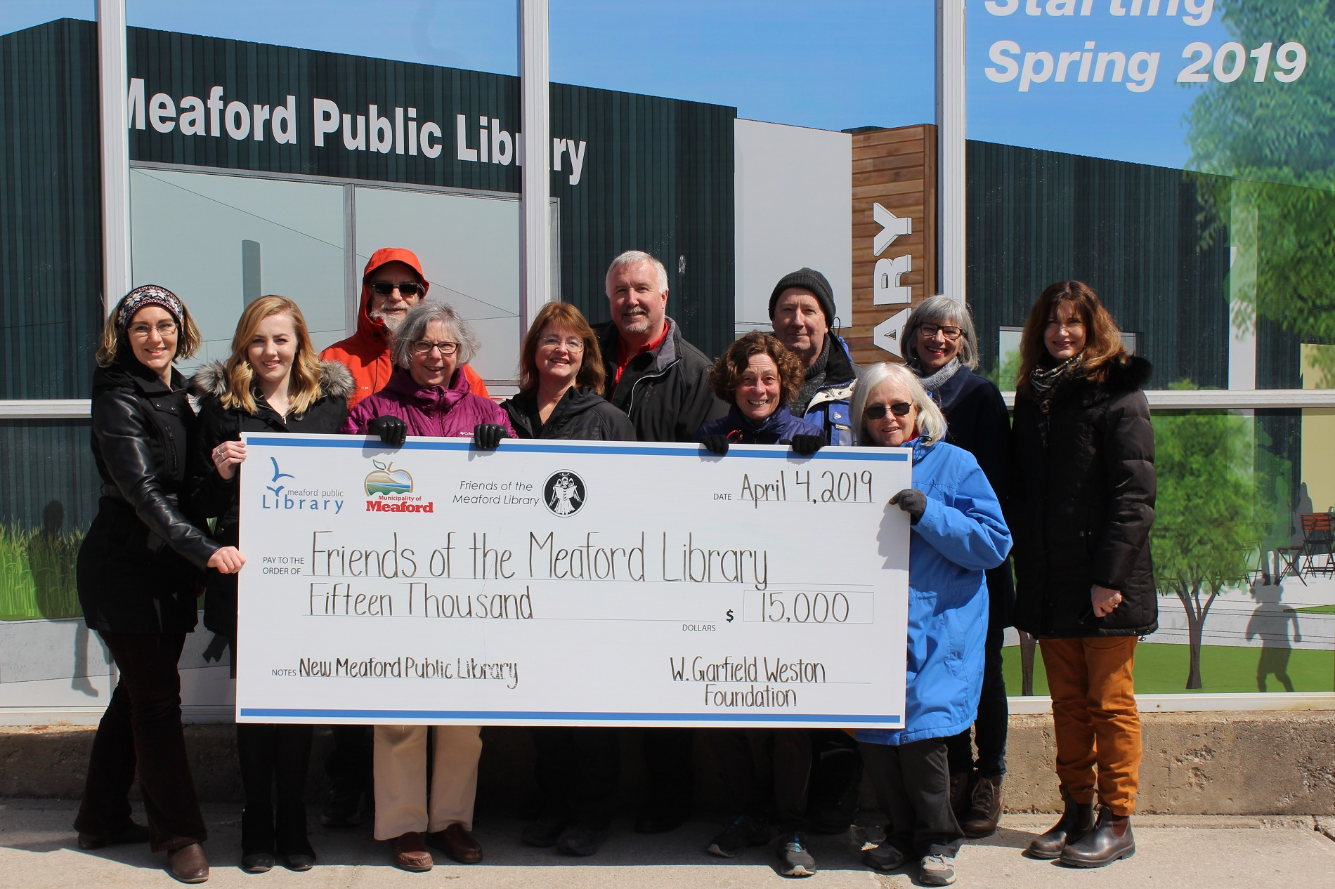 New Library receives $15,000 donation from the W. Garfield Weston Foundation