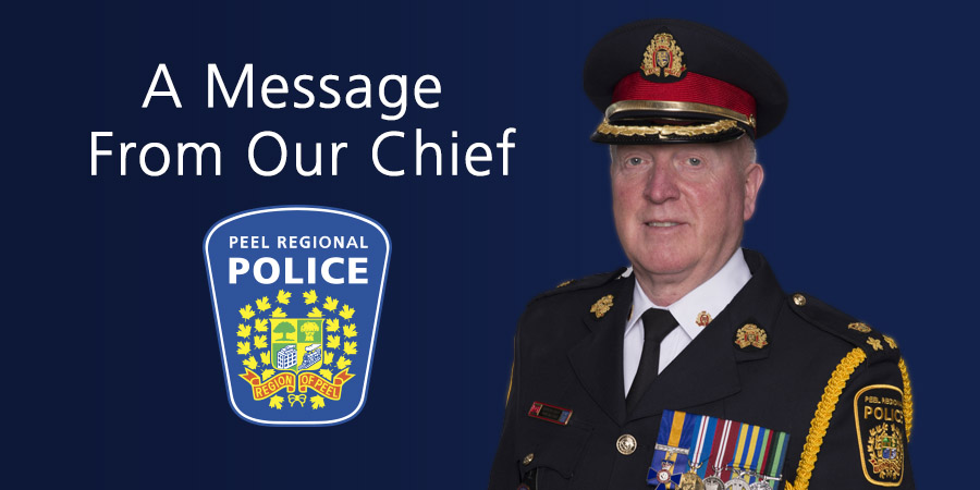 A Message from our Chief