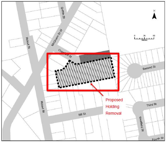 Crawford St Holding Removal Map