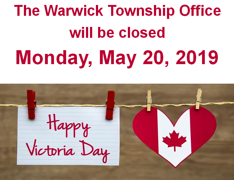 Office closed Victoria Day 2019