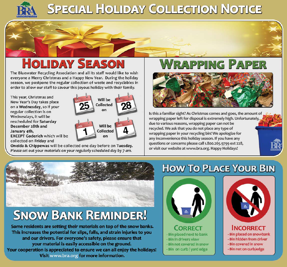 Special Holiday Collection Notice