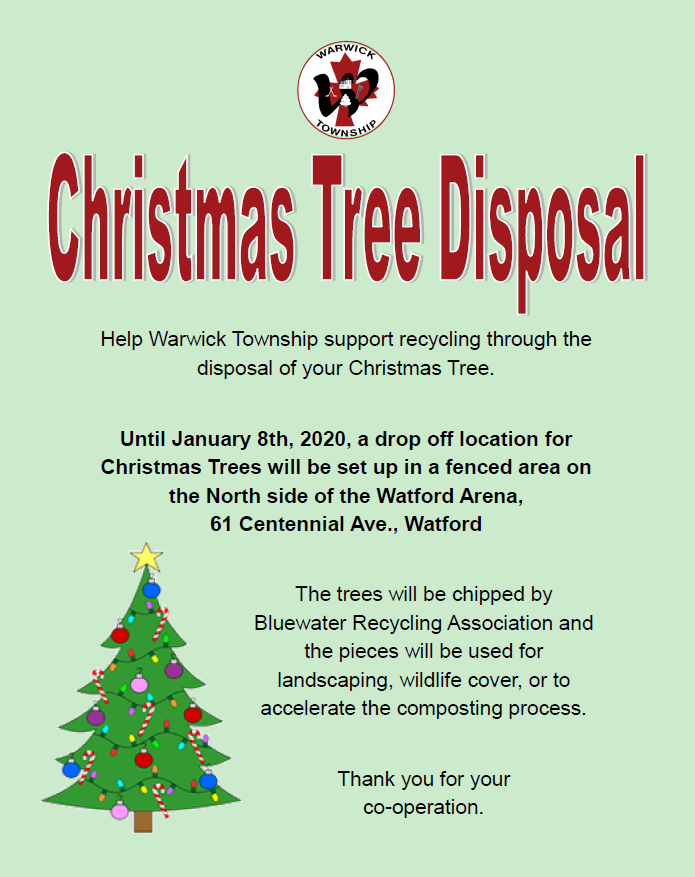 Christmas Tree Disposal Flyer